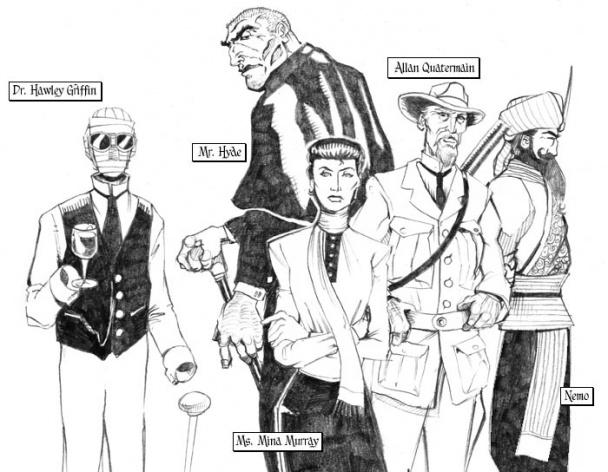 la liga hombres extraordinarios serie tv comic piloto allan moore