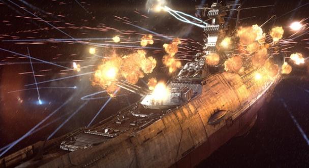 Espectacular momento de batallas estelares en Space Battleship Yamato