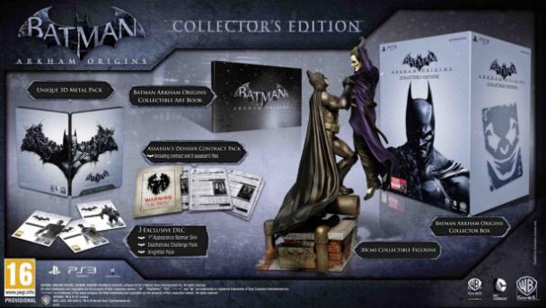 Batman Arkham Origins Coleccionista contenido