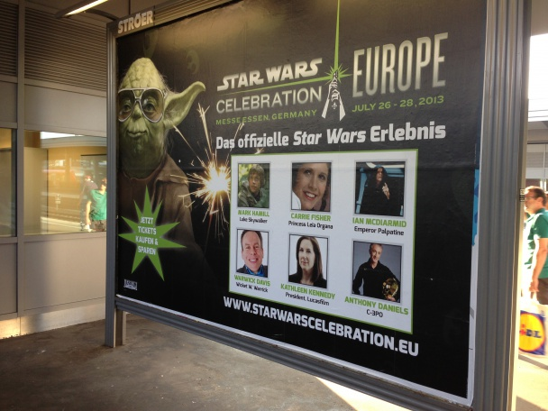 Cartel entrada SW Celebration