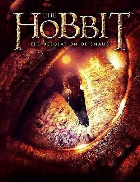 Imagen El Hobbit La Desolación de Smaug mirada dragón