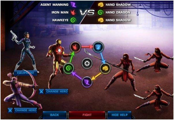 El combate por turnos y las distintas clases