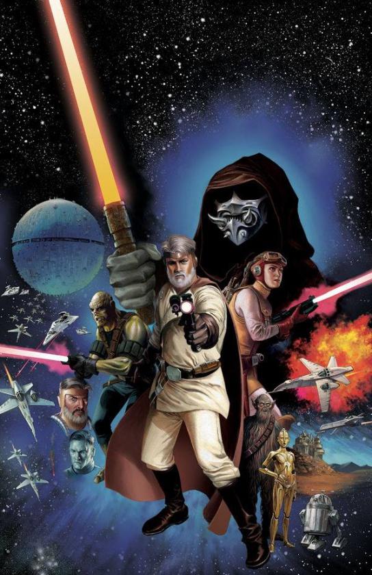 Portada de Doug Wheatley de The Star Wars