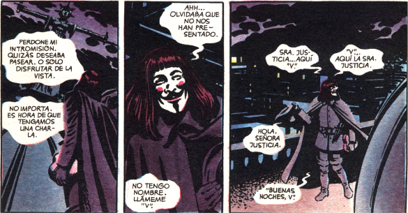 Fragmento del soliloquio de V a la dama Justicia (V de Vendetta)