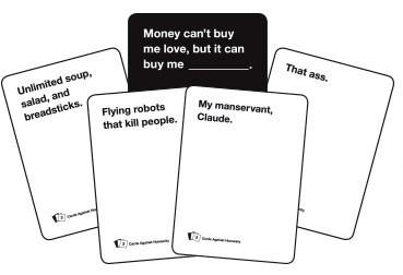 El dinero no puede comprarme amor, pero puede comprarme...