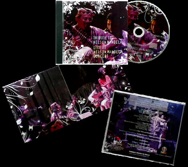 Diseño del CD del Tributo a Nelson Mandela