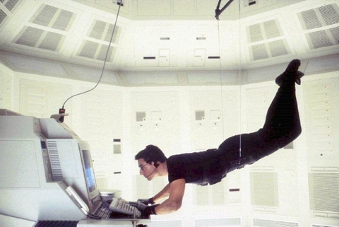 """Esta imagen ha pasado a la historia del cine. """"Mission: Impossible"""", 1996"""