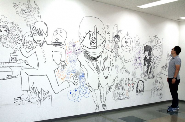 Uno de los principales murales