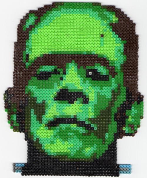 Por la red circula este espléndido Frankenstein en beads. Uno de nuestros clientes presentó esta misma figura en uno de nuestros concursos