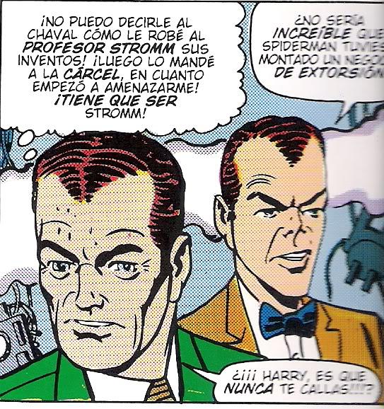Los Osborn. Harry al fondo. La primigenia y particular cara de un personaje que ha cambiado mucho desde los años 60
