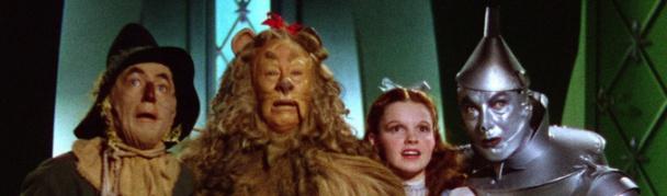 Los protagonistas de El Mago de Oz en la película de 1939