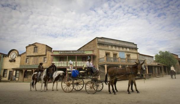 Escenario típico de westerns en el desierto de Tabernas