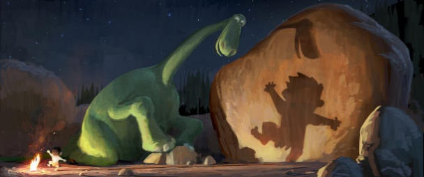 Arlo y Spot en The Good Dinosaur