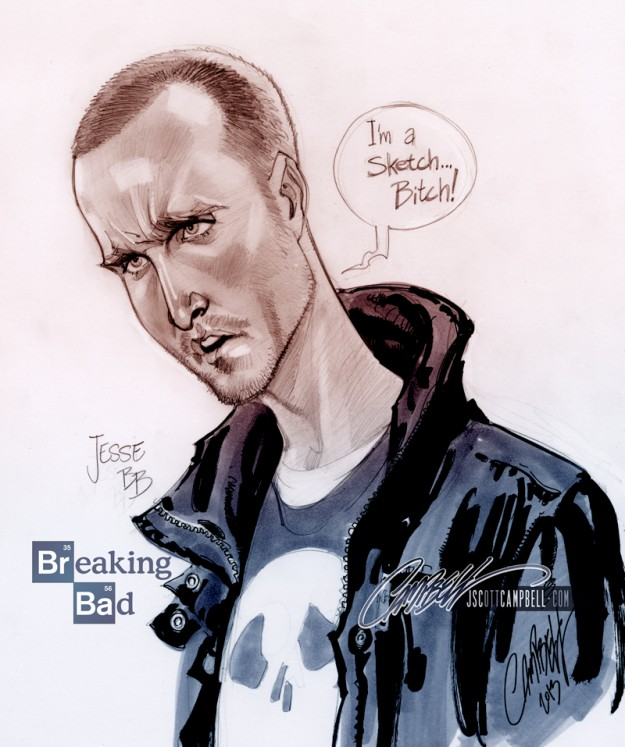 Jesse Pinkman por Scott Campbell