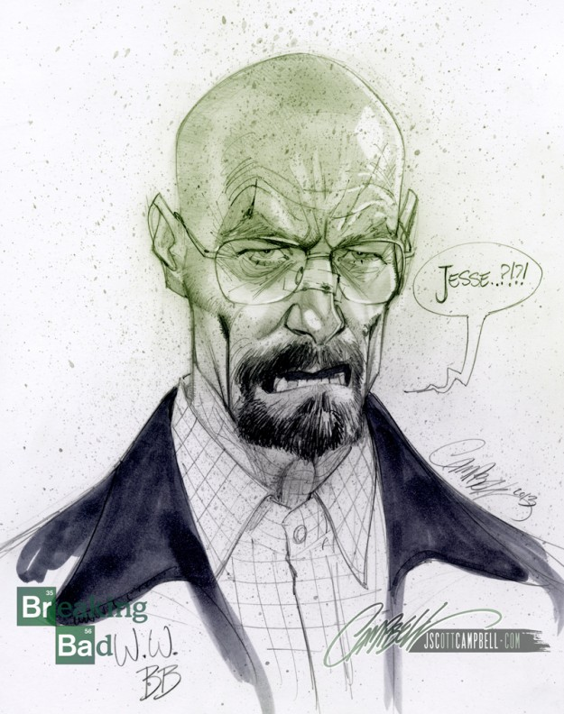 Walter White por Scott Campbell