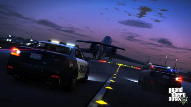 GTA 5 car runway plane