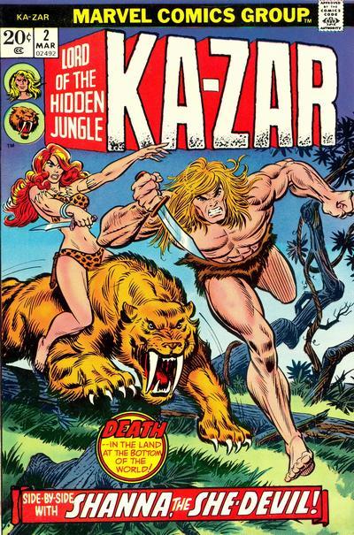 Ka-Zar, en la Tierra Salvaje del Universo Marvel, junto a Shanna y Zabú