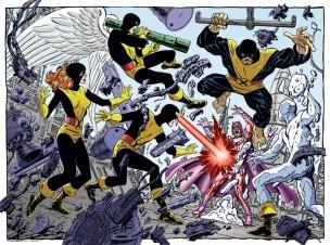 Ilustración de John Byrne, que ya había dibujado y mostrado interés en La Patrulla-X original