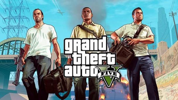 Los protagonistas de GTA V, Trevor, Franklin y Michael.