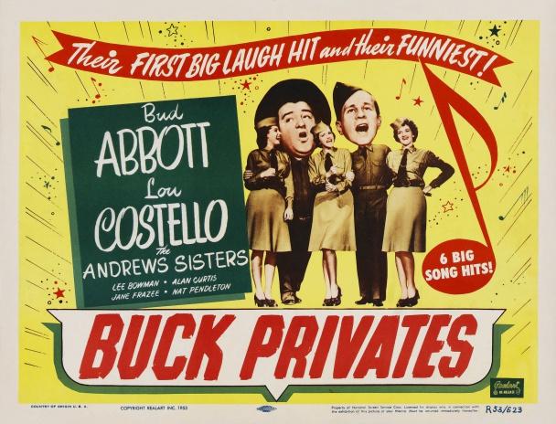 """Buck Privates (1941) con """"el gordo y el flaco"""""""