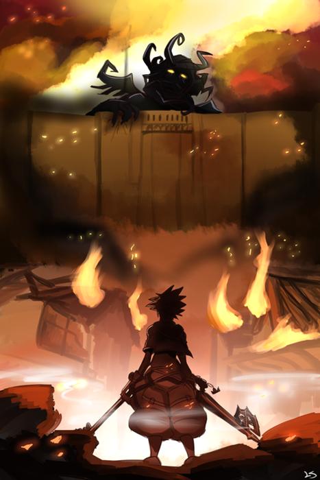 ataque-de-los-titanes-kingdom-hearts