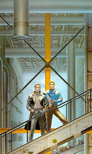 """Ilustración para """"Bóvedas de Acero"""", obra de Michael Whelan"""