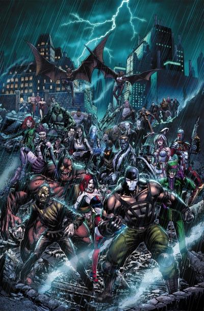 Portada de Forever Evil: Arkham War, de Jason Fabok