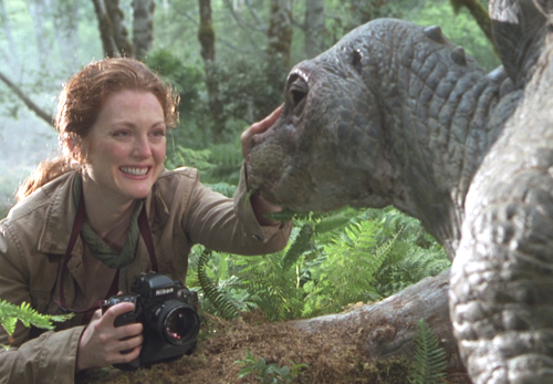 A Julianne Moore le gustan los dinosaurios