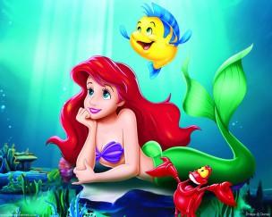 la-sirenita-sebastián-flounder