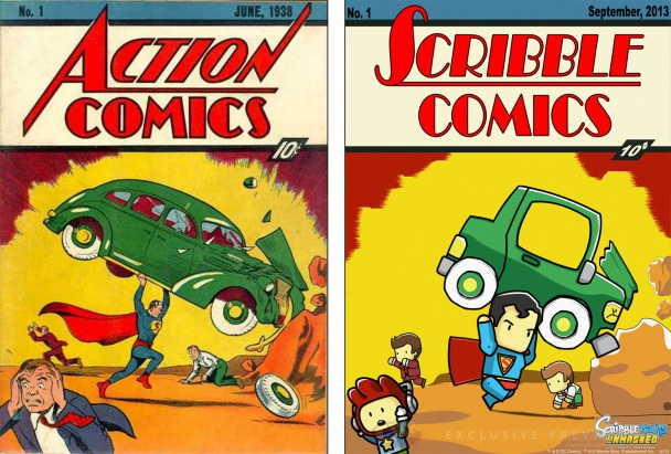 scribblenauts cover superman