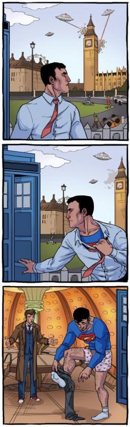 superman-se-cambia-en-la-tardis