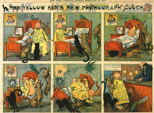 Viñeta de periódico: The Yellow kid - 1895/98