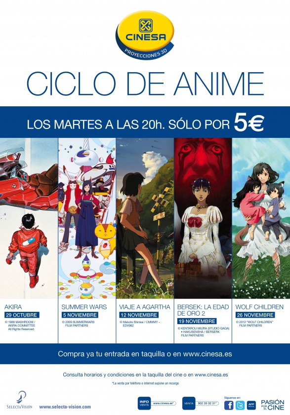 Cartel Anime Proyecciones