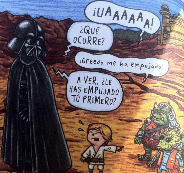 Darth Vader e hijo Greedo
