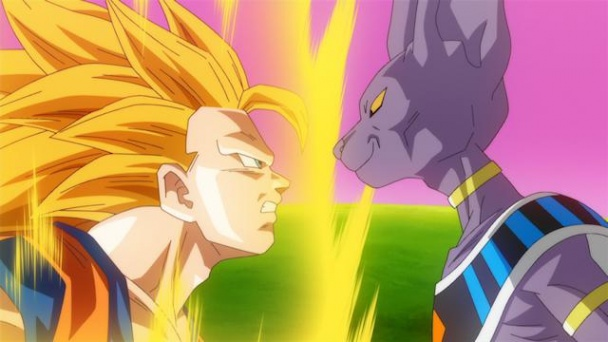 Dragon Ball Z Battle of Gods Goku vs Bills