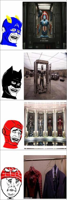 Humor-Armario superheroes