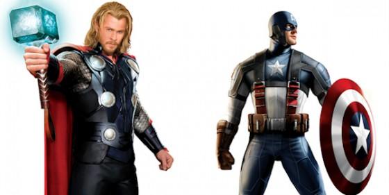 Imagen Thor y Capitán América