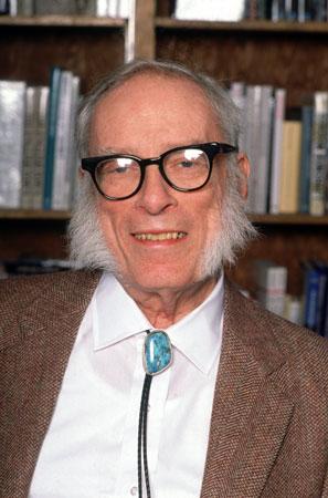 Isaac Asimov y su inconfundible look