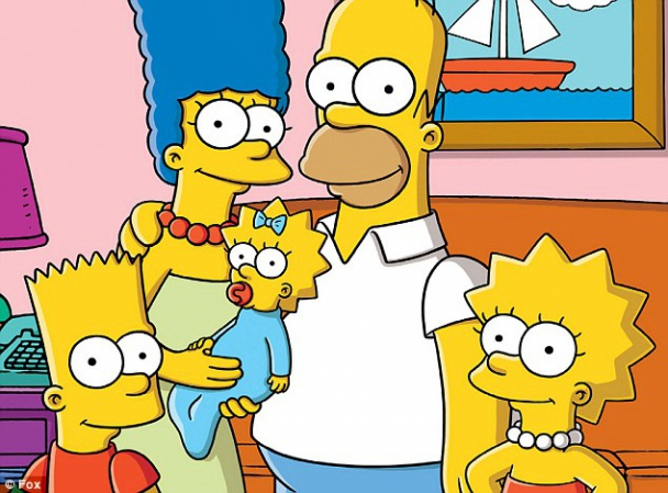 Retrato de Los Simpsons al completo