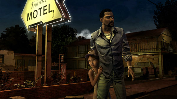 Lee y Clementine, personajes principales de The Walking Dead