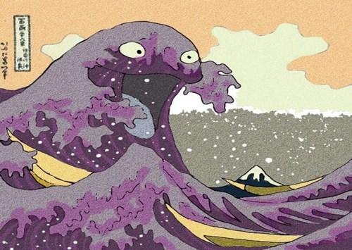 cuadro-ola-japonesa-muk-pokemon