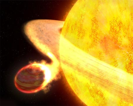 El sol de Florina podría destruir el planeta a causa de las corrientes de carbono