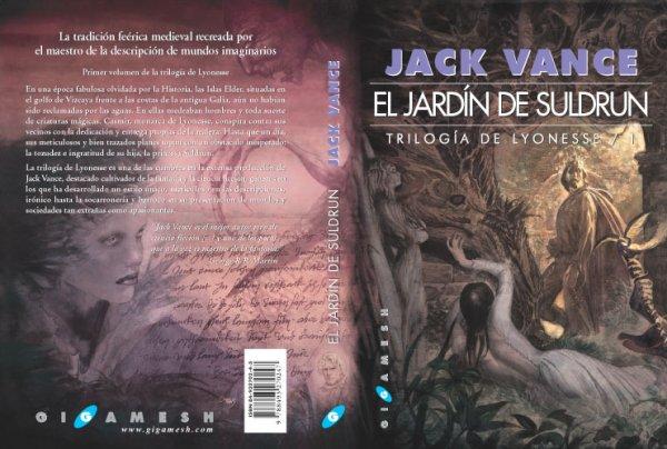 Trilogía de Lyonesse editada por Gigamesh del autor Jack Vance portada Enrique Coromines