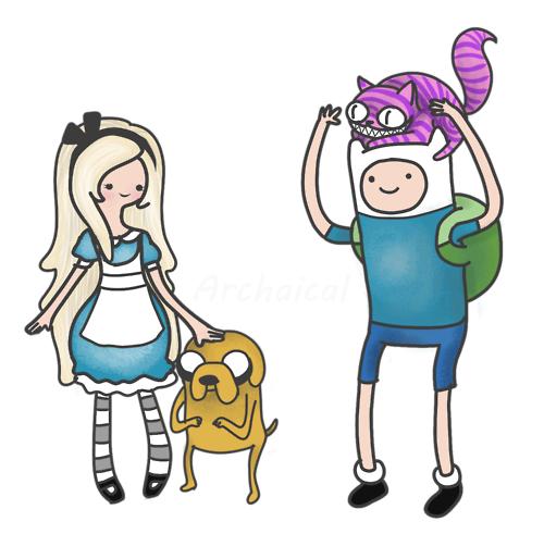 hora-de-aventuras-crossover-con-el-pais-de-las-maravillas