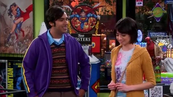 Escena donde Lucy y Raj se conocen