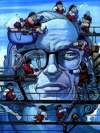 Ilustración homenaje a Asimov