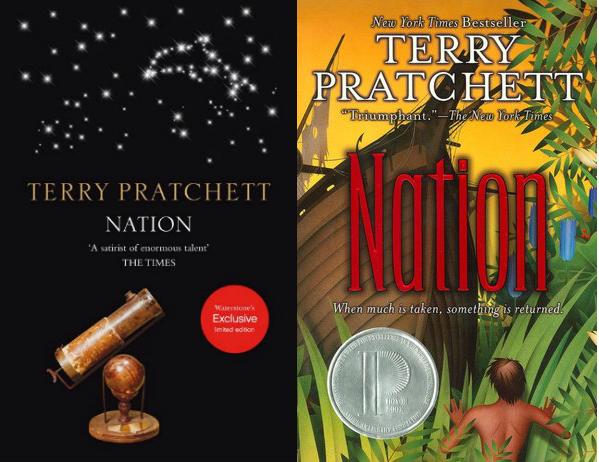 Portadas de Nación de Terry Pratchett