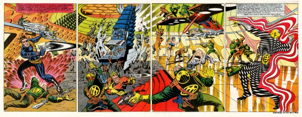 Páginas de Nick Fury, Agent Of SHIELD en Strange Tales por Steranko