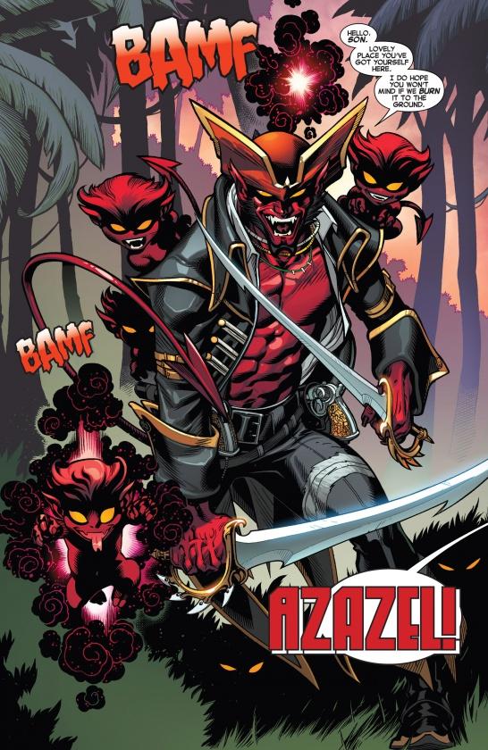 Impresionante Azazel en Amazing X-Men #1