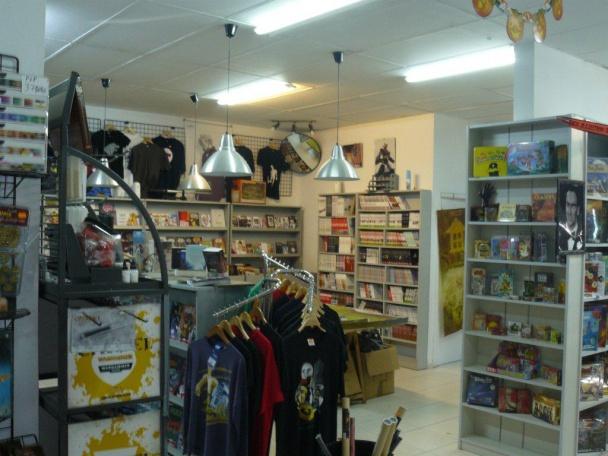 Interior de la tienda.